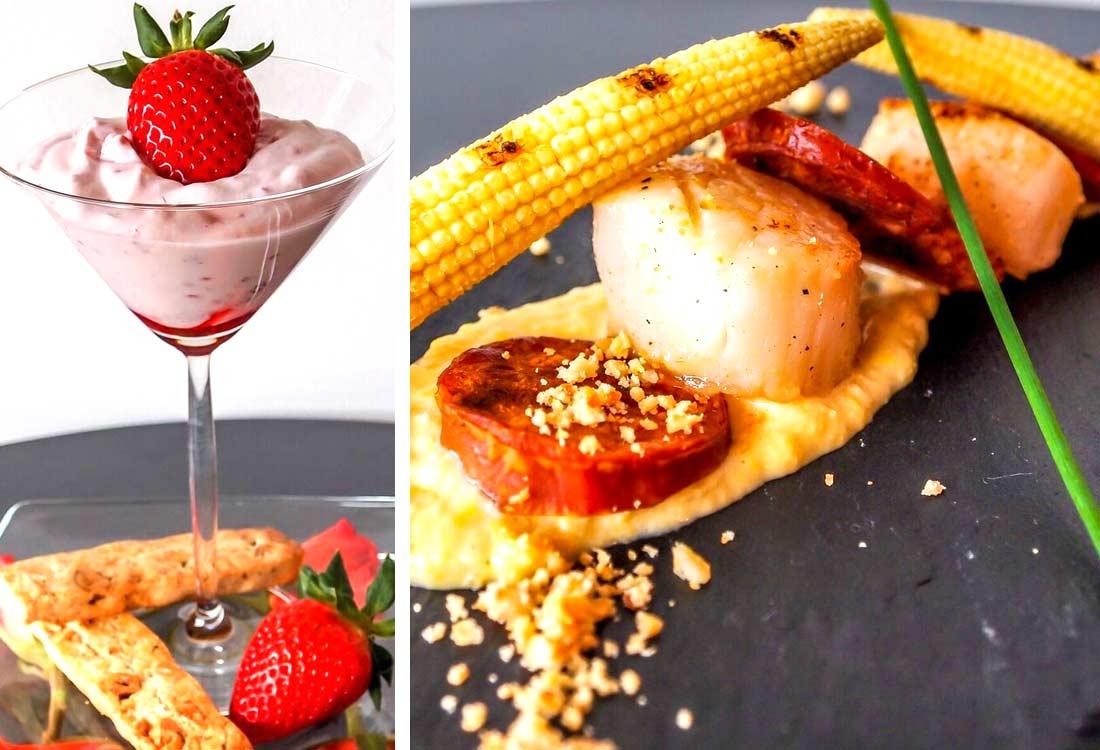 ski_zermatt_food_scallops_rhubarb_fool